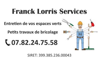 Création carte de visite Franck Lorris Service Recto