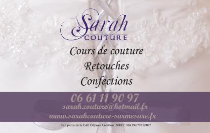 Création carte de visite Sarah couture