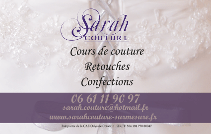 Cration Carte De Visite Sarah Couture