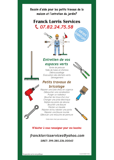 Flyer Franck Lorris Services