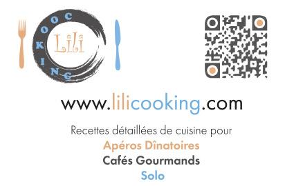 Création carte de visite Lilicooking.com