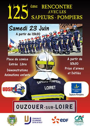 Affiche du congrès des Sapeurs-Pompiers d'Ouzouer sur loire