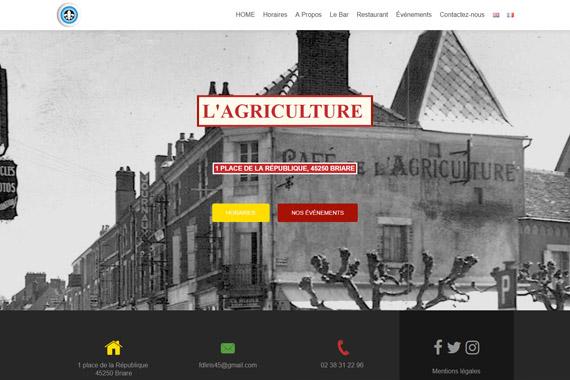 Création du site internet de la brasserie l'agriculture à Briare