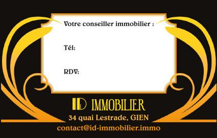 Réalisation de carte de visite ID Immobilier