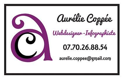 Carte de visite Aurélie Coppée Webdesigner - Infographiste