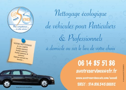 Flyer A votre servince recto