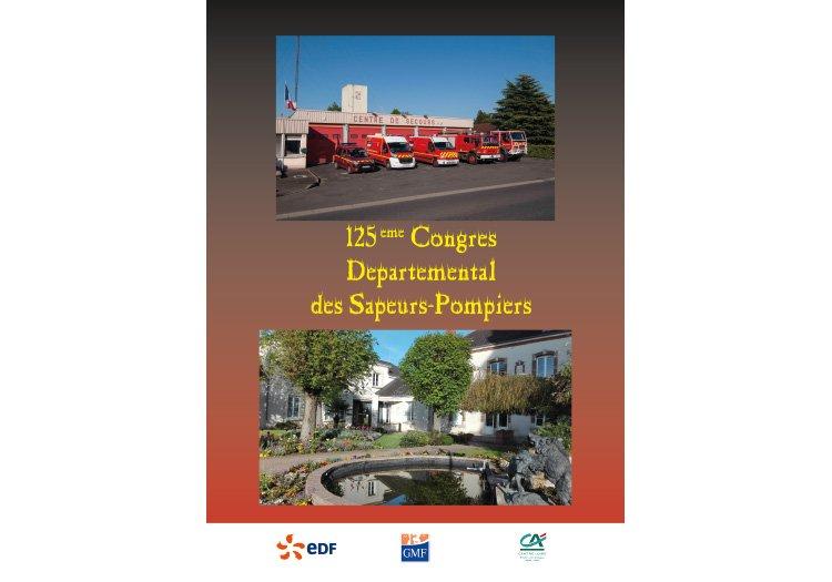 Mise en page du programme du 125e Rassemblement des sapeurs pompiers