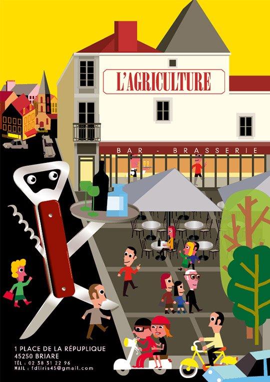 Carte restauration brasserie l'Agriculture