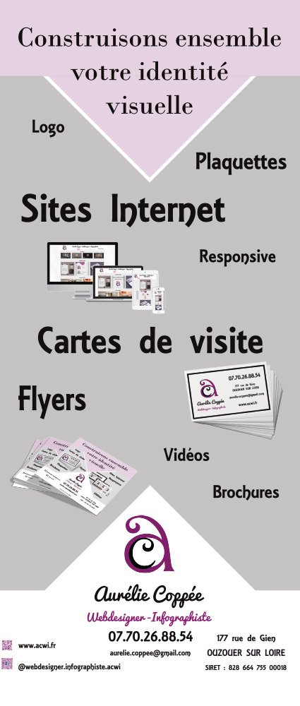 Roll'up Aurélie Coppée Webdesigner - Infographiste