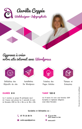 flyer formation wordpress
