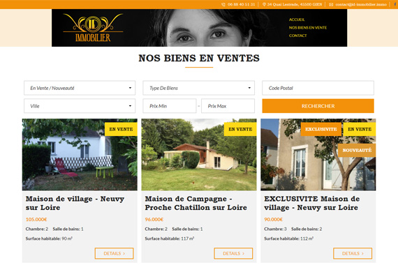 Site internet agence immobilière ID Immobilier