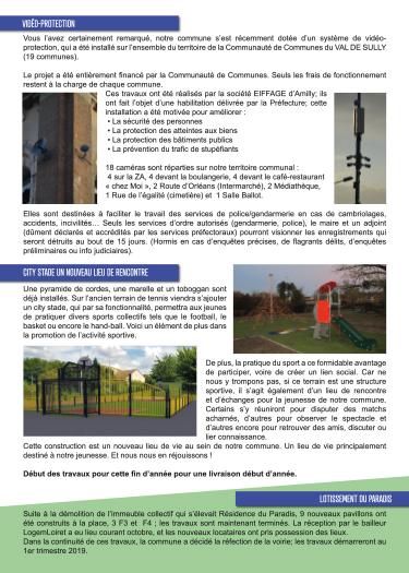 Bulletin municipal d'Ouzouer sur Loire page 2