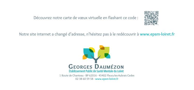Carte de vœux papier EPSM du Loiret dos
