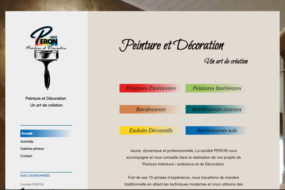 Site internet société Péron