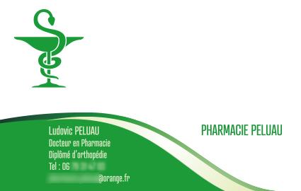 Carte de visite Pharmacie Peluau