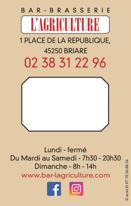 Réalisation carte de visite l'Agriculture Briare