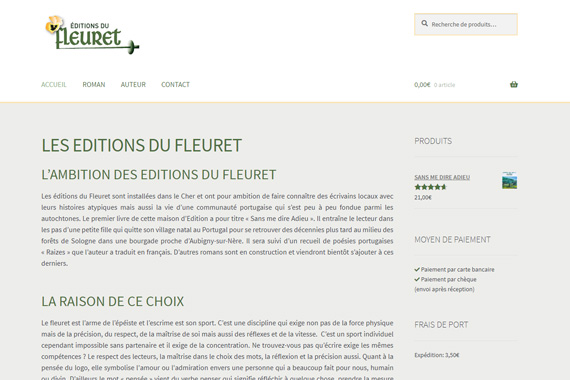 Création site internet les éditions du fleuret cher 18