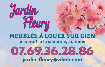Réalisation carte de visite jardin fleury Gien 45