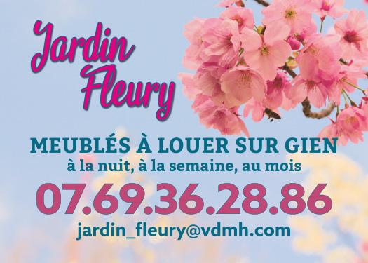 Réalisation flyers jardin fleury Gien 45