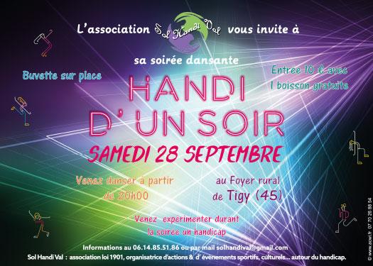 Affiche soirée Sol Handi Val Loiret 45
