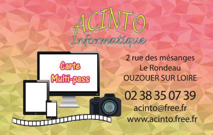 Réalisation cartes multipass Association ACINTO Ouzouer sur loire 45