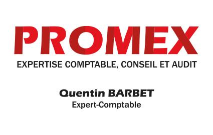 Réalisation de cartes de visite cabinet experts comptable PROMEX Jargeau Loiret 45