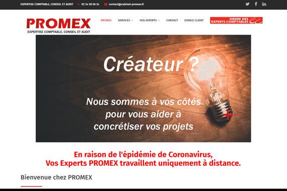 Réalisation de site internet cabinet experts comptable PROMEX Jargeau Loiret 45