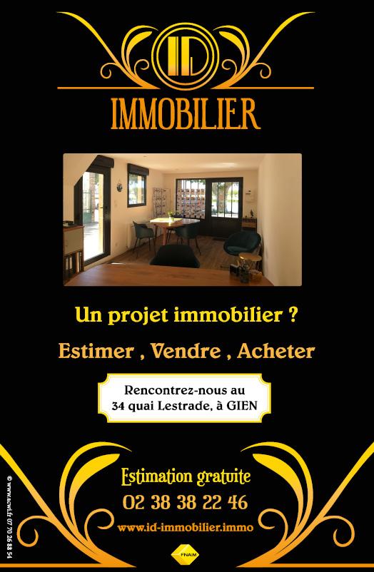 Réalisation d'un visuel pour panneau publicitaire d'agence immobilière Gien Loiret 45
