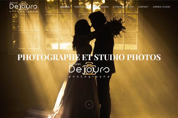 Réalisation de site internet du photographe Samuel Dejours Gien Loiret 45