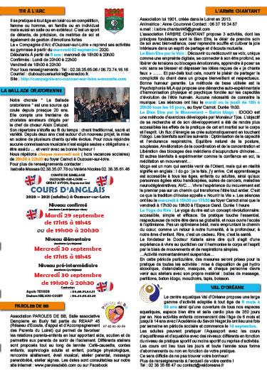 Mise en page du supplément association de bulletin municipal Ouzouer sur loire