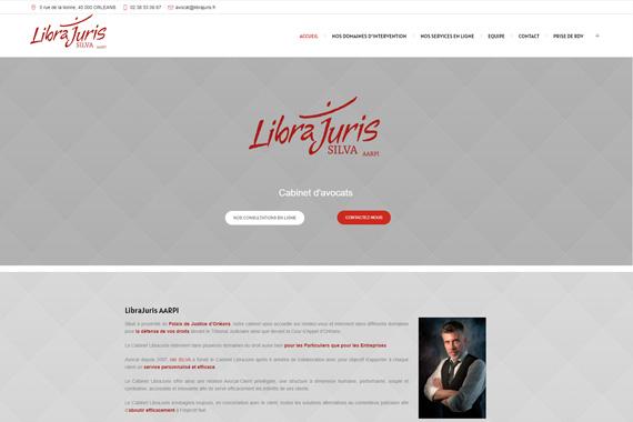 Site internet responsive marchand pour la cabinet d'avocat LibraJuris d'Orléans 45000