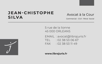 Création de carte de visite pour la cabinet d'avocat LibraJuris d'Orléans 45000