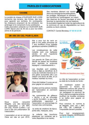Mise en page du bulletin municipal Ouzouer sur loire