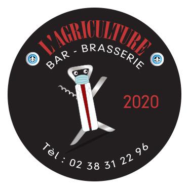 Stickers brasserie l'Agriculture Briare 2020