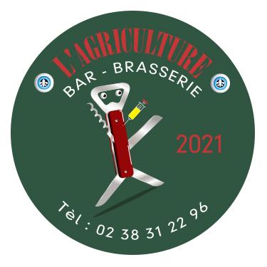 Stickers brasserie l'Agriculture Briare 2021