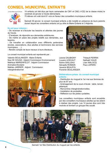 Mise en page du bulletin municipal Ouzouer sur loire Loiret