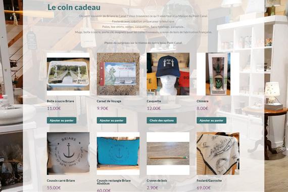 Site internet marchand responsive pour la maison du pont canal de Briare loiret