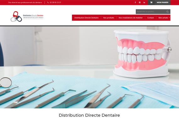 Site internet marchand responsive pour Distribution Directe Dentaire à Chateau Renard loiret